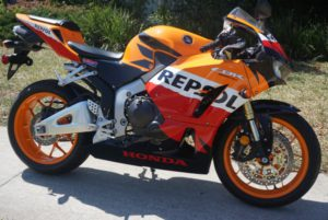 Sell Honda sport bike in Florida